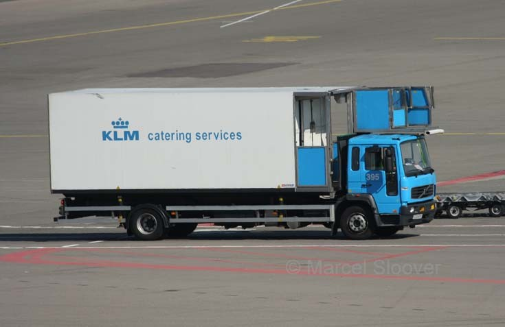 A Volvo FL in service with the KLM Catering services