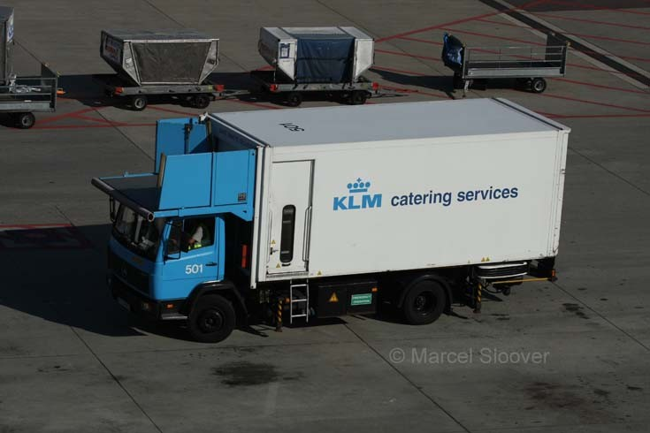 KLM Catering services operate this Mercedes Benz Ecoliner