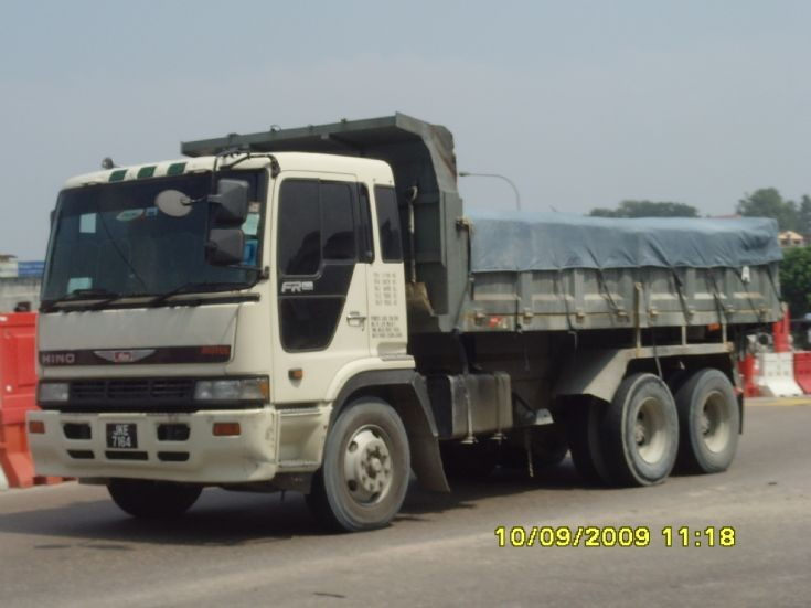 Picture of Hino Dump Truck on the road