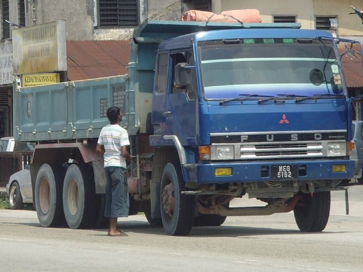 Mitsubishi Fuso Dump Truck at construction site