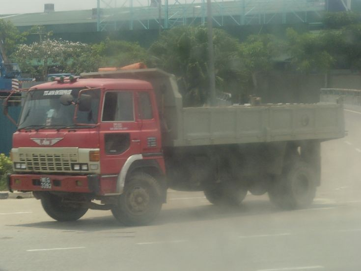 Hino Dump Truck has left a construction site
