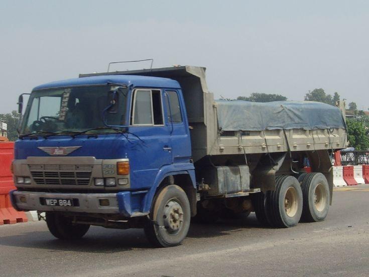 Hino Dump Truck hauling granite