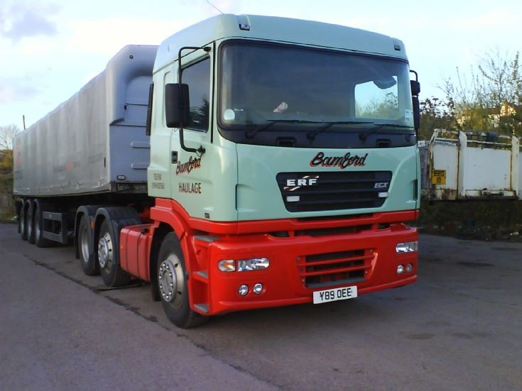 Michael Bamford's lorry (razz) ERF ECX Cummins 405