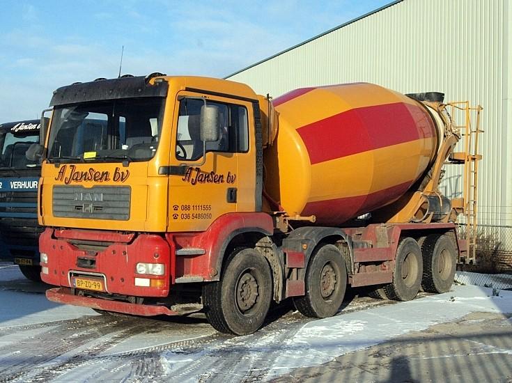 A Jansen bv MAN cement truck