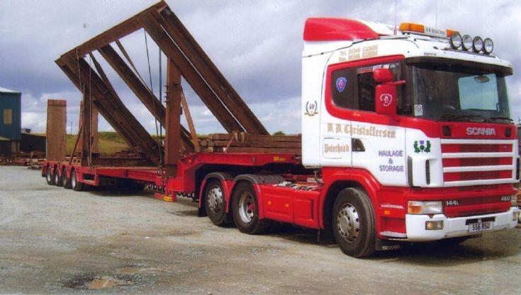 B B Christoffersen Haulage Scania 144L 460