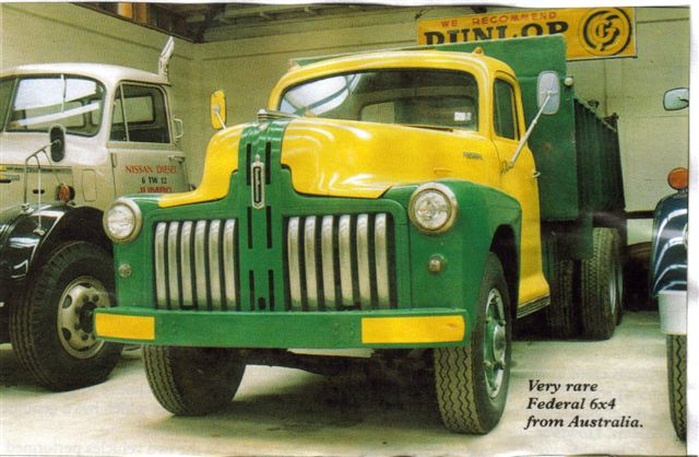 Very rare Federal 6x4 truck, Australia