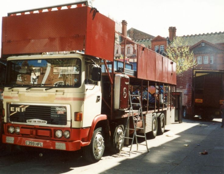 1985 ERF C series with a Gardner 270 up front and Gardner 120 and dynamo on the back - Tuby's Dodgems
