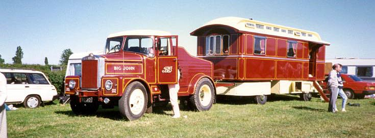 1960's 'Big John' Scammell Highwayman and living van at Farnsfield rally 1986