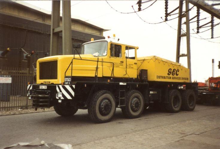 FAUN 8x4 Prime Mover GEC Services at CEGB West Burton Power Station Nottinghamshire
