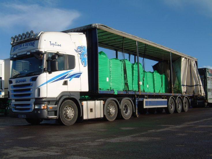 Scania R420 6x2/4 Topline, Beattie & Devine Transport
