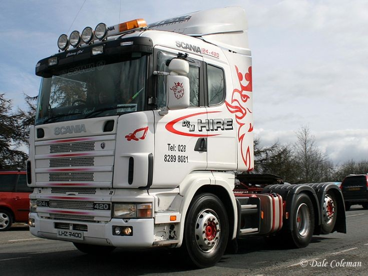 Scania R124 6x2 420, D&M Hire