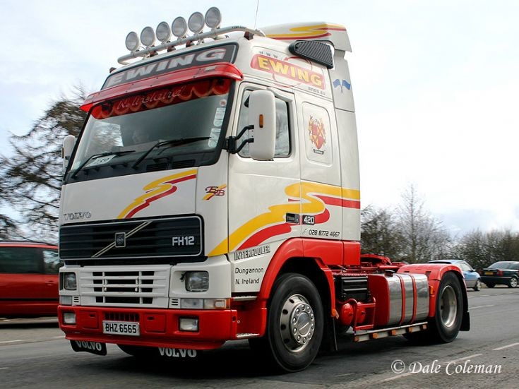 Truck Photos - Volvo FH12 4x2 420 Globetrotter, Ewing Bros.