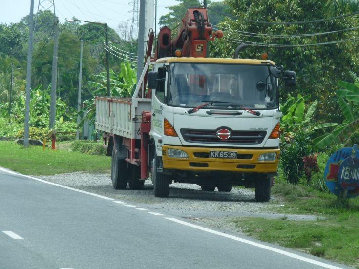 Hino cargo truck with FASSI crane