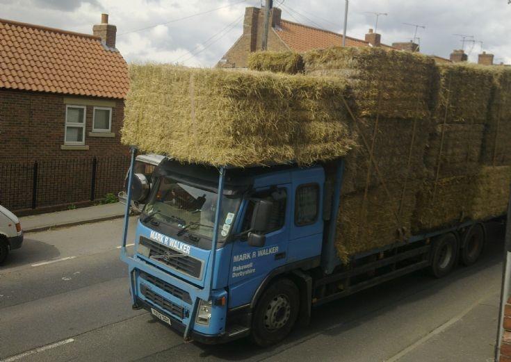 Volvo  hay/straw lorry & trailer