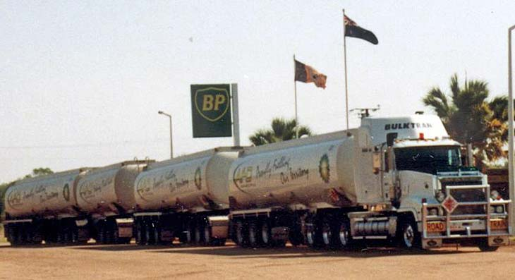 Australian Mack Road Train Fuel Tanker
