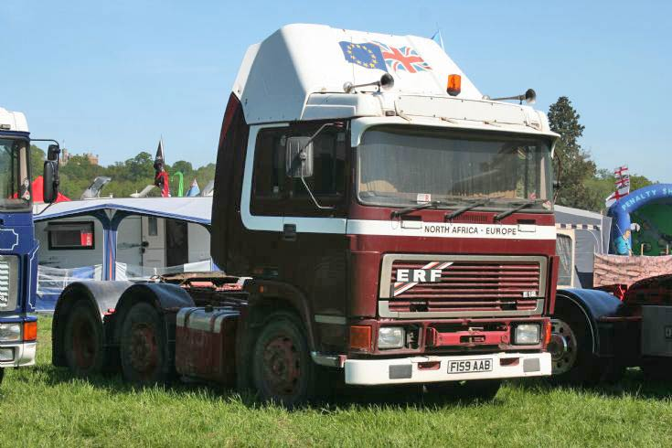 1988 ERF E12 6x2 Tractor unitat at Belvoir Castle Rally ERF gathering may 2010
