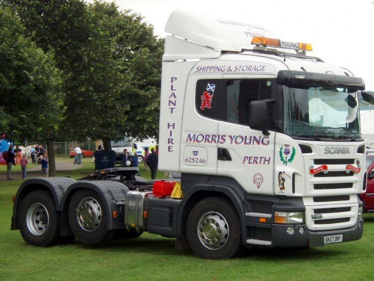 Morris Young's brand new Scania R420 on display at Perth Show (Agricultural Show & Fair)