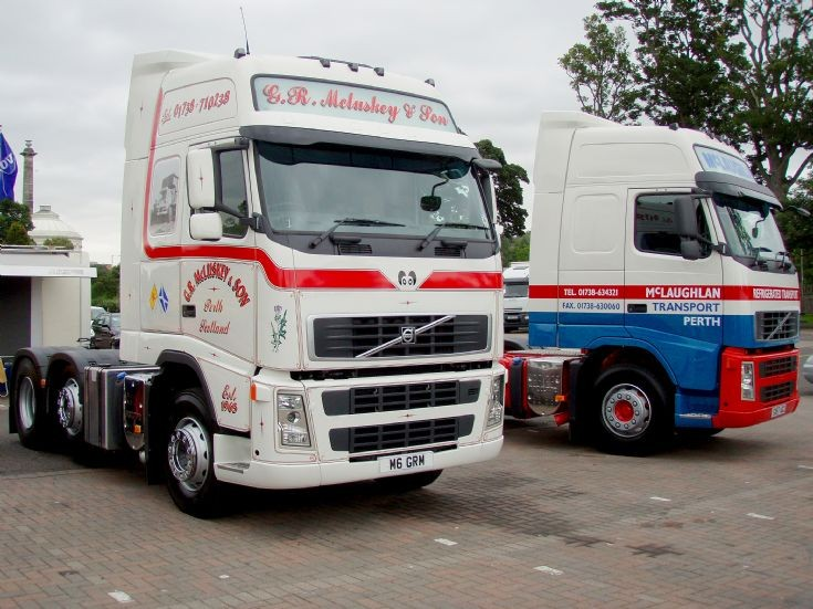 Two new Volvo FHs - G. R. McLuskey & Sons, and McLaughlan Transport