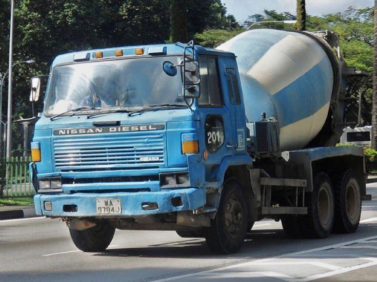 Island Concrete (Pte) Ltd Nissan Diesel UD CWA53 Concrete Mixer Truck