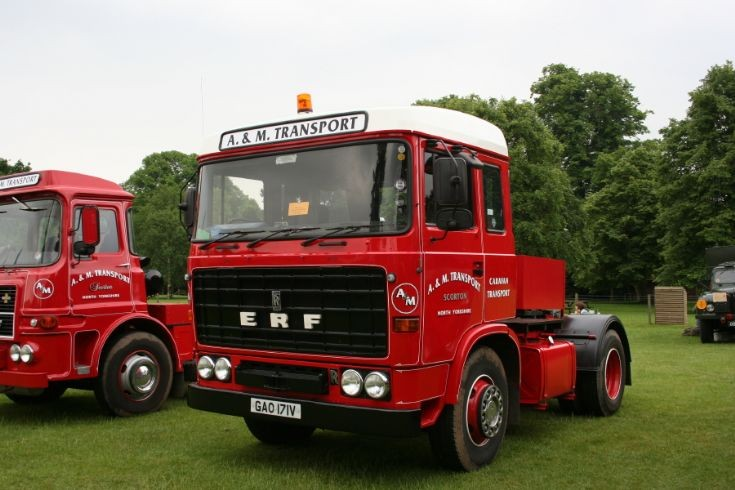 1980 A&M Transport ERF B series sleepercab tractor unit at Newby Hall rally 2010