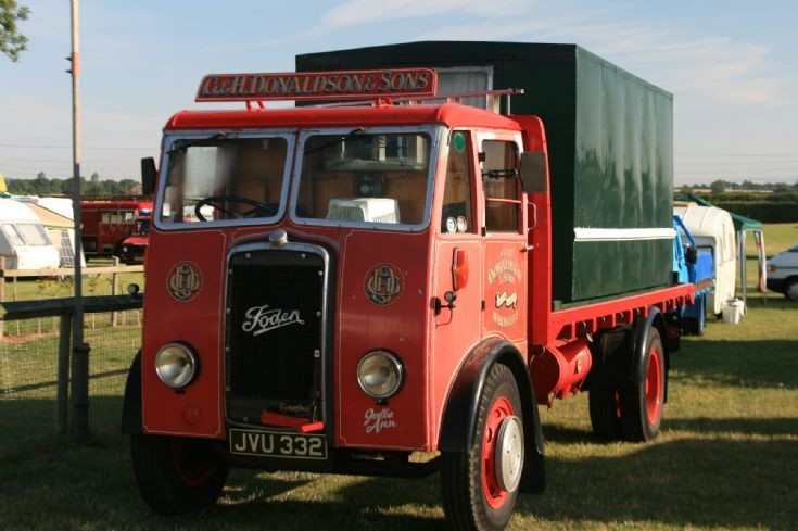 G&H Donaldson & Sons Foden seen at Winterton Show Ground, N.Lincs
