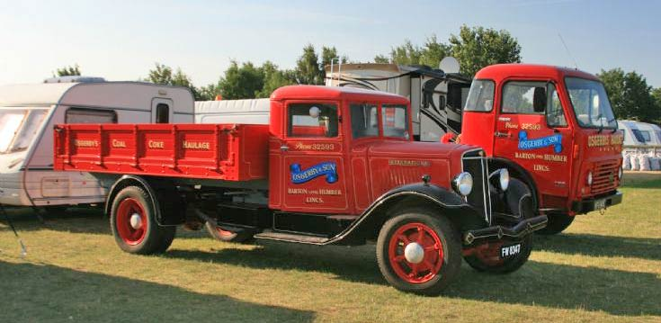 Osgerby & Son International with Volvo F86 at Winterton Show Ground, N. Lincs