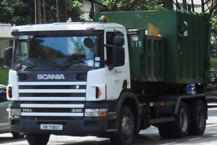 Sembcorp Pte Ltd Scania 114c 340 Hook Lift Truck