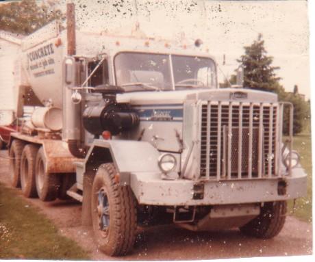 1978 Autocar Concrete Truck