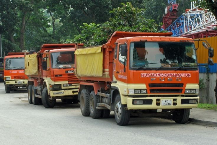 Fuso - Scania - Fuso Tippers (HuaTiong Contractor)