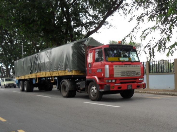 Nissan Diesel Resona on the move in Malaysia