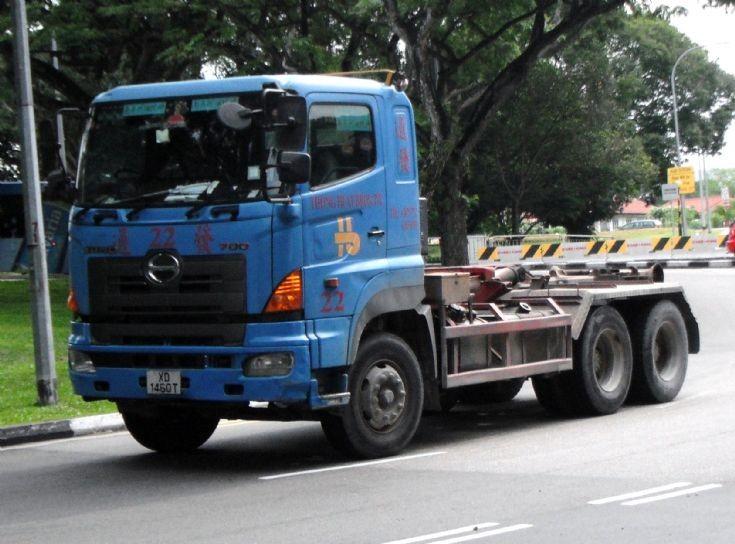 Thong Huat Brothers Pte Ltd Hino Profia 700 Hook Lift Truck