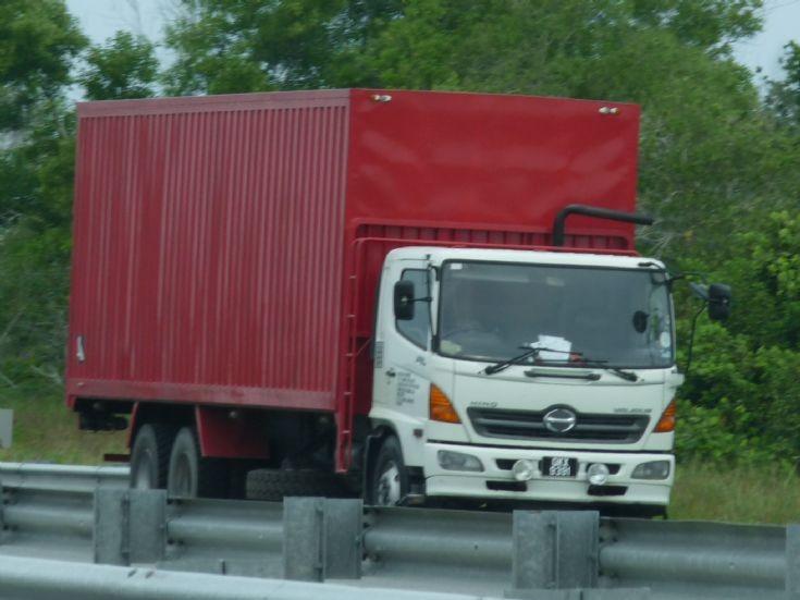 Hino cargo truck at Tutong-Muara Highway