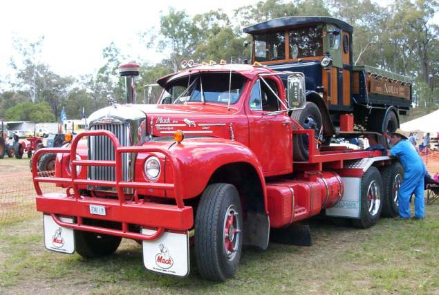 B Model Mack with Dennis truck load