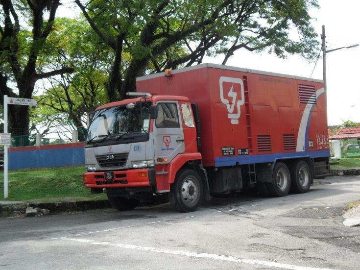Nissan Diesel generator truck in Malaysia