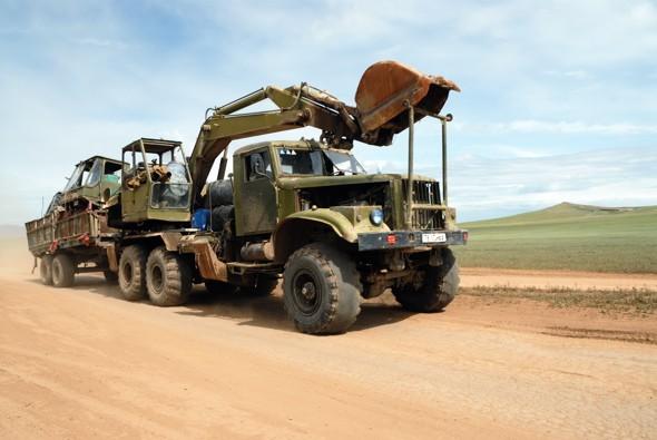 Kraz truck in Mongolia
