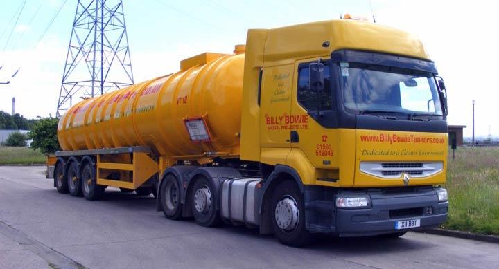 Billie Bowie Renault sludge tanker