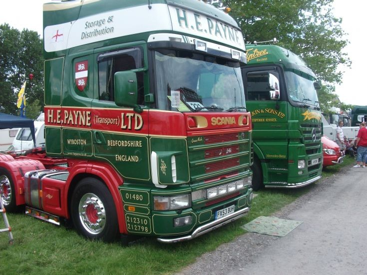Scania and Mercedes tractor units