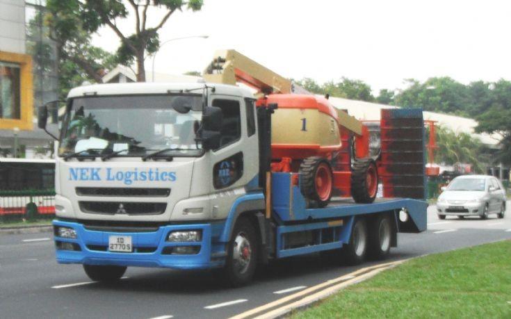NEK Logistics Pte Ltd Mitsubishi Fuso Super Great FH517FDR Self Loader Truck